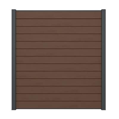 Composizione kyoto 1 pannello marrone l 188 x h 200 cm for Perline legno leroy merlin