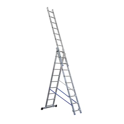 Scala sfilo alluminio Gierre 3x10 gradini, per lavori fino a 7,2 m