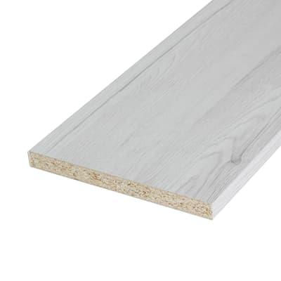 Pannello melaminico rovere bianco 18 x 400 x 1820 mm