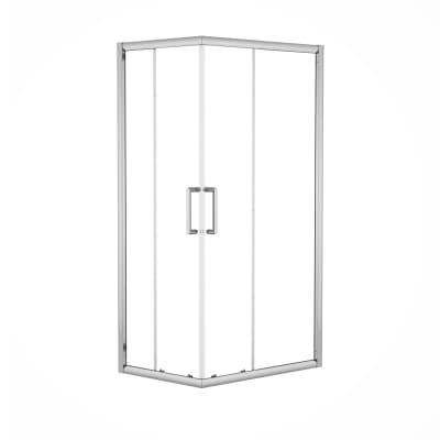 Box doccia scorrevole Quad 67.5-69 x 97,5-99, H 190 cm cristallo 6 mm trasparente/silver