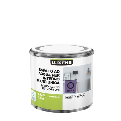 Smalto manounica Luxens all'acqua Viola Elisir 3 satinato 0.125 L