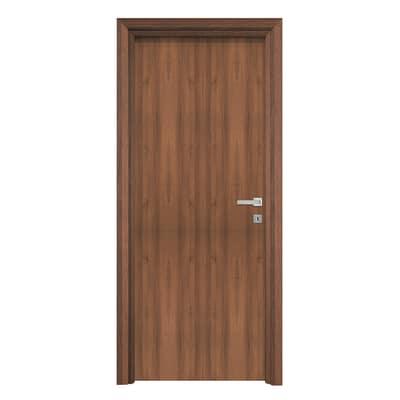 Porta da interno battente Auda noce 90 x H 210 cm reversibile
