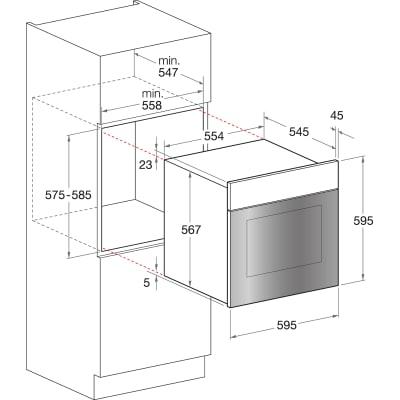 Forno elettrico multifunzione ventilato 7 funzioni Hotpoint FT 850 (AV)/HA S