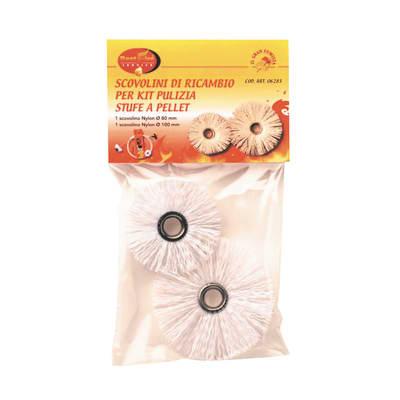 Scovolini di ricambio Stufa a pellet bianco ø 80 mm x 1,5 x 26 x 1,5 cm 40 g