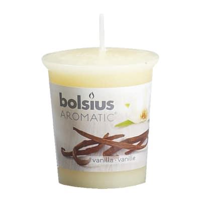 Candela cilindro ø 4,5 cm H 5,4 cm essenza vaniglia