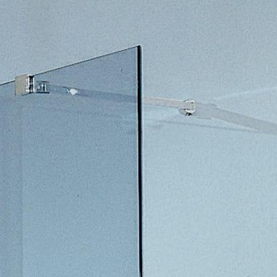 Doccia walk-in Free 30 76, H 193 cm cristallo 6 mm trasparente/cromo