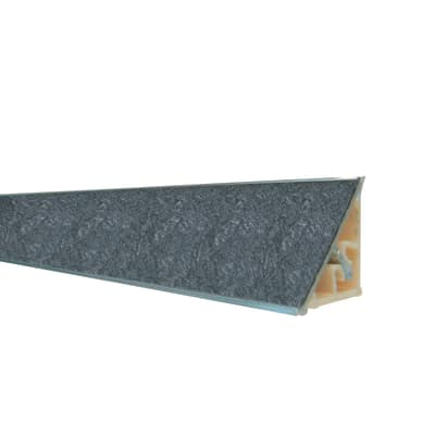 Alzatina alluminio nero L 300 x H 2,7 cm
