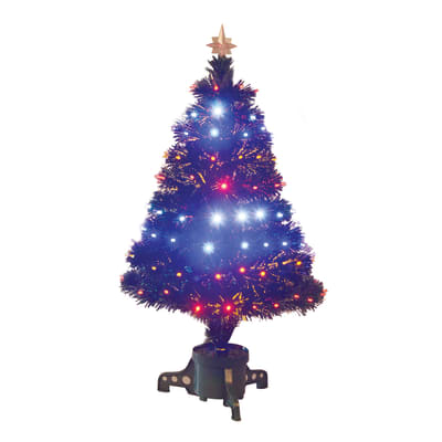 Albero di Natale artificiale Fibre ottiche e led H 90 cm
