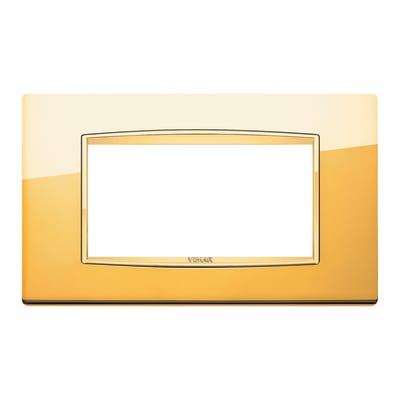 Placca 4 moduli Vimar Eikon Classic oro lucido