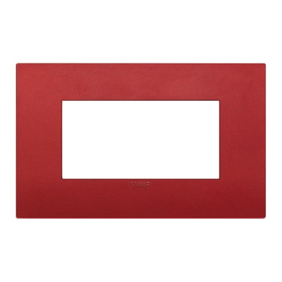 Placca 4 moduli Vimar Arké rosso matt