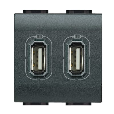 Presa USB BTicino Livinglight nero