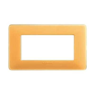 Placca 4 moduli BTicino Matix ambra