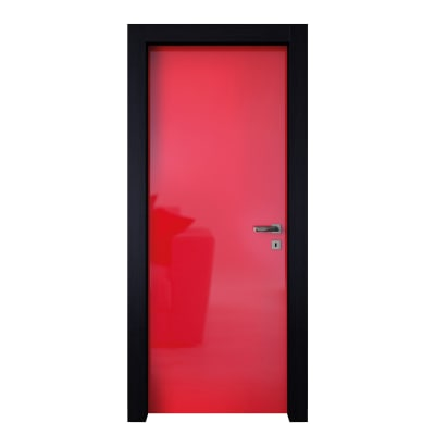 Porta da interno battente Dalì rosso lucido 60 x H 210 cm sx