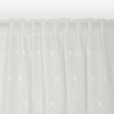 Tenda Margherita bianco 140 x 320 cm