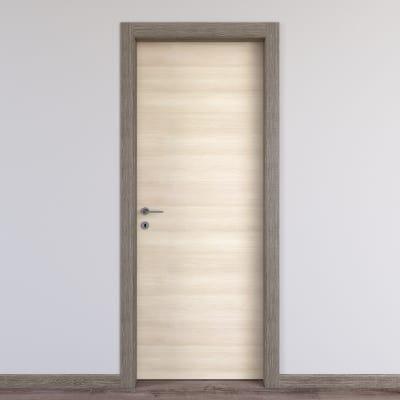 Porta da interno battente Mixage grey grano 90 x H 210 cm reversibile
