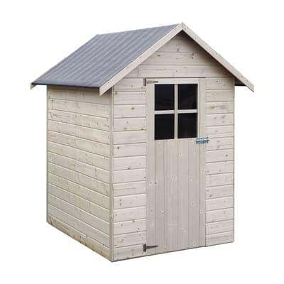 casetta in legno grezzo Tulipano 2,02 m², spessore 12 mm