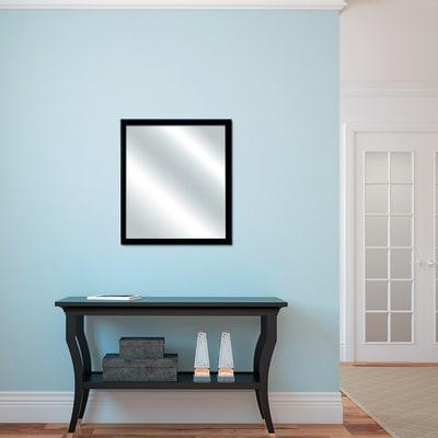 Specchio da parete rettangolare bomber nero 52 3 x 72 3 cm prezzi e offerte online leroy merlin - Specchio rettangolare da parete ...