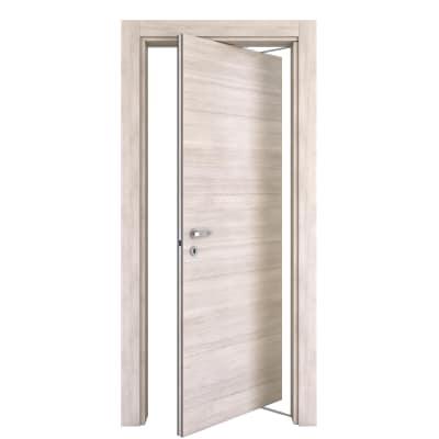 Porta da interno rototraslante Resort larice ghiaccio 80 x H 210 cm dx