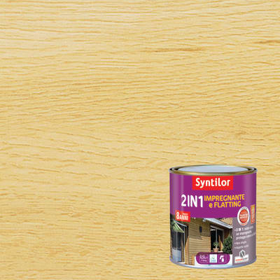 Impregnante e flatting 2 in 1 ad acqua 8 anni Syntilor incolore brillante 0,5 L