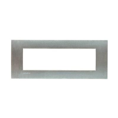 Placca 7 moduli BTicino Livinglight acciao spazzolato