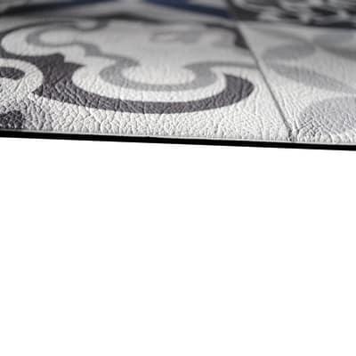 Tappetino cucina antiscivolo Relax vino grigio chiaro 50 x 230 cm