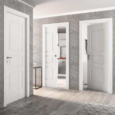 Porta da interno pieghevole asimmetrica Alioth bianco 80 x H 210 cm dx