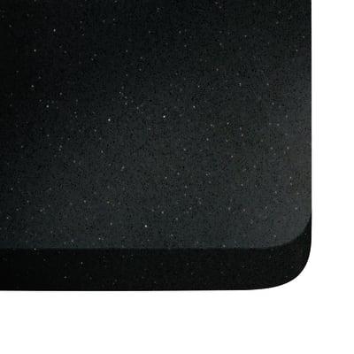 Piano cucina su misura quarzo Nero stellar 2 cm
