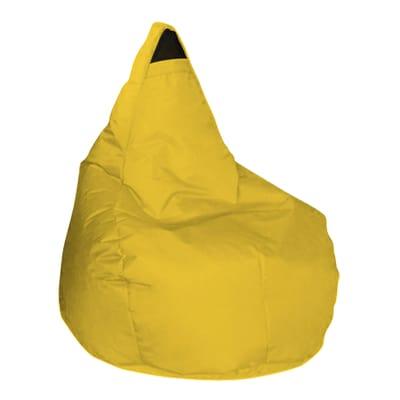 Cuscino pouf Pera idrorepellente giallo 100 x 70 cm