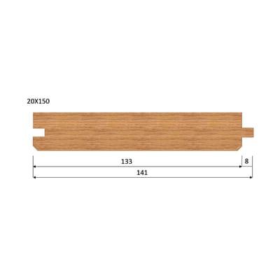 Listone pavimento prima scelta larice spazzolato naturale 20 x 150 x 2000 mm