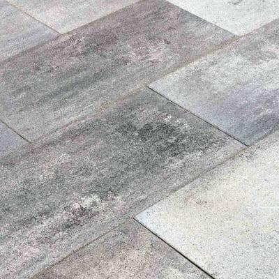 Lastra 40 x 80 cm Sasslong antimacchia grigio venato, bancale da 7.68 mq, spessore 4,8 cm