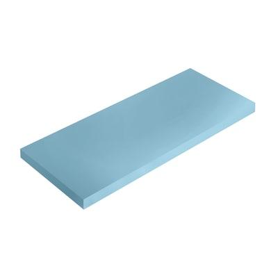Mensola Spaceo blu L 36 x P 15,5, sp 1,8 cm