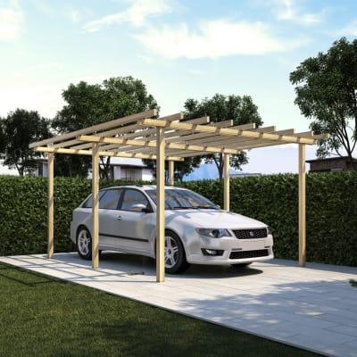 carport pisa 5 x 4 m prezzi e offerte online leroy merlin. Black Bedroom Furniture Sets. Home Design Ideas