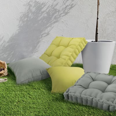 Cuscino seduta verde chiaro 45 x 45 cm