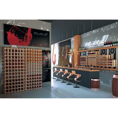 Scaffale legno portabottiglie 78 posti 13 ripiani L 75 x P 22 x H 150 cm