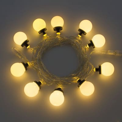 Catena luminosa 10 sfera Led classica gialla 5 m
