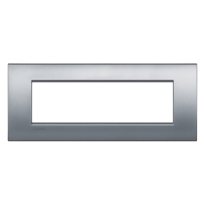 Placca 7 moduli BTicino Livinglight Air cromo