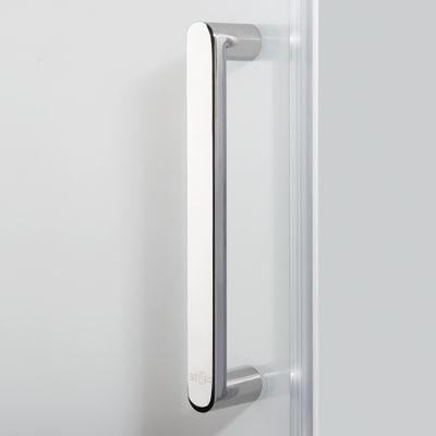 Doccia con porta scorrevole e lato fisso Quad 137.5 - 140 x 77.5 - 79 cm, H 190 cm cristallo 6 mm serigrafato/silver