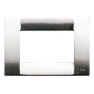 Placca 3 moduli Vimar Idea nichel spazzolato