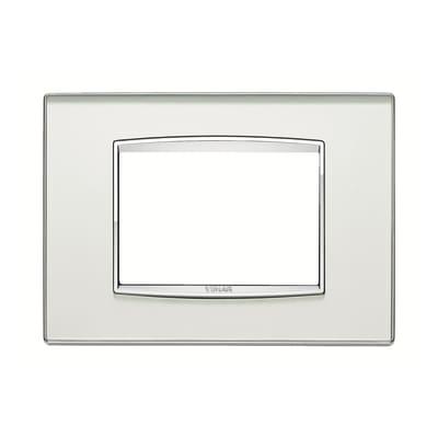 Placca 3 moduli Vimar Eikon argento mirror