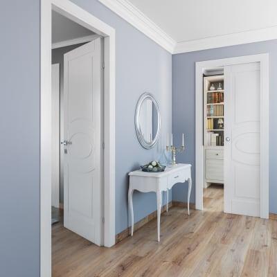 Porta da interno battente Street bianco 60 x H 210 cm dx