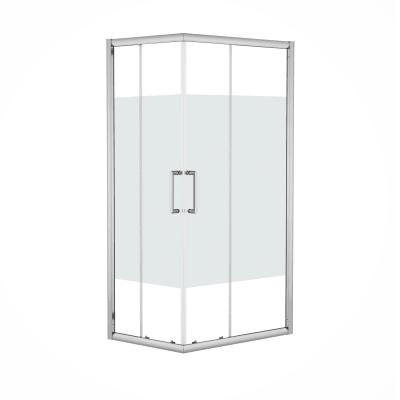Box doccia scorrevole Quad 67.5-69 x 97,5-99, H 190 cm cristallo 6 mm serigrafato/silver