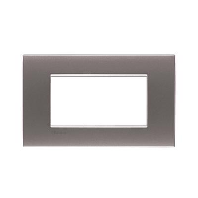 Placca 4 moduli BTicino Livinglight Air nichel satinato