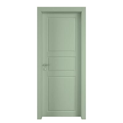 Porta da interno battente New York verde 80 x H 210 cm dx