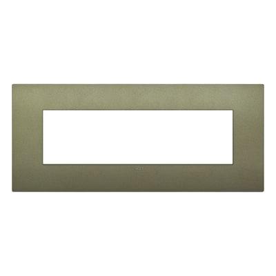 Placca 7 moduli Vimar Arkè verde matt