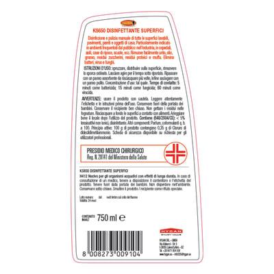 Disinfettante Maggiordomo KS650 per superfici 750 ml
