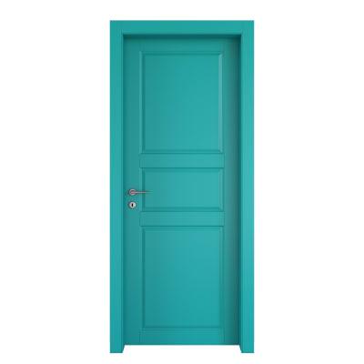Porta da interno battente New York azzurro 90 x H 210 cm dx
