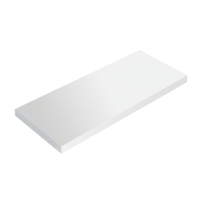 Mensola Spaceo bianco L 36 x P 15,5, sp 1,8 cm
