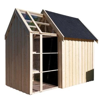 Casetta in legno grezzo serra vertigo 5 6 m spessore 28 for Casetta legno bambini leroy merlin