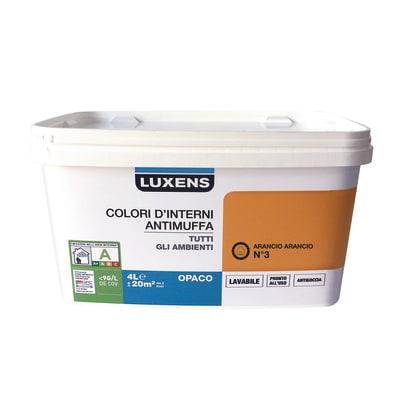 Idropittura lavabile Antimuffa Arancio Arancio 3 - 4 L Luxens