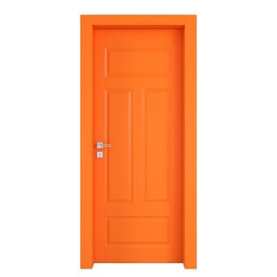 Porta da interno battente Coconut Groove arancio 80 x H 210 cm dx